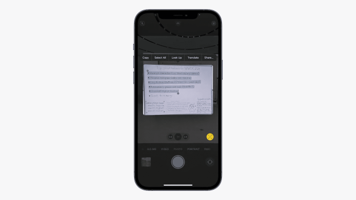 Apple announces Live Text feature for its devices at its WWDC keynote