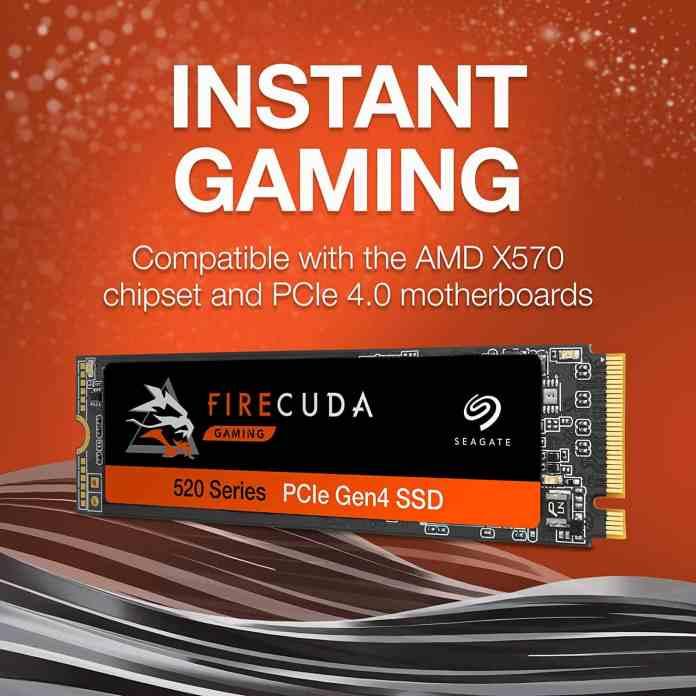 Deal: Seagate FireCuda 520 Performance Internal PCIe Gen4 NVMe SSD discounted
