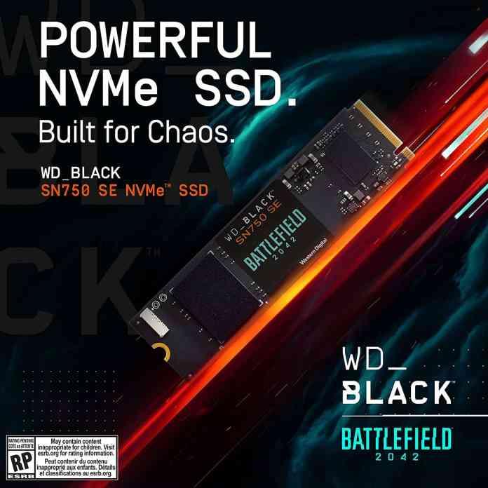 WD_BLACK SN750 SE Battlefield 2042 PC Game Bundle is here