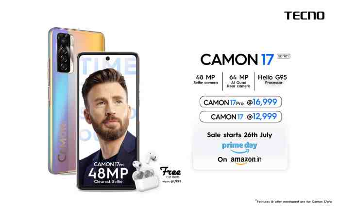 TECNO Camon 17 and Camon 17 Pro launched with 90Hz display and MediaTek processor in India