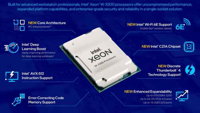 Intel launches new Xeon W-3300 Processors to counter AMD's Threadripper