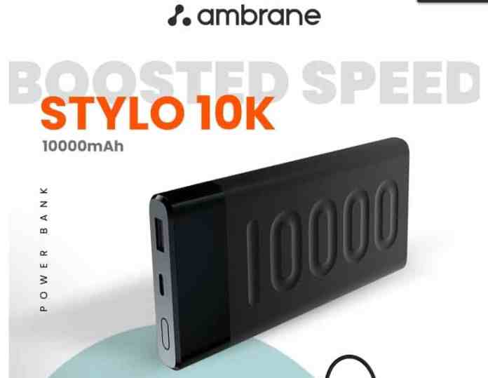 Ambrane Stylo 10K Power Bank with 20W fast charging is arriving on Amazon Prime Day