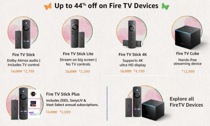 Best Deals on Amazon Fire TV Devices during Amazon Great Freedom Festival