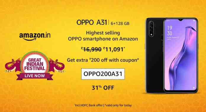 Exclusive coupons when you buy an OPPO smartphone from Amazon India