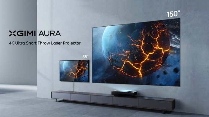 XGIMI launches AURA, its Global 4K Laser TV Ultra Short Throw Projector worldwide