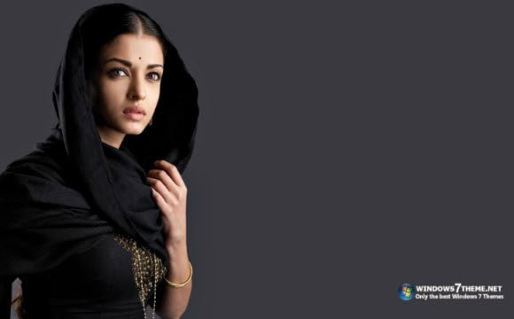 Aishwarya Rai Indian getup Windows 7 theme free download