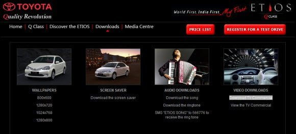 Free Download Toyota Etios Wallpaper, Screensaver, and the official song