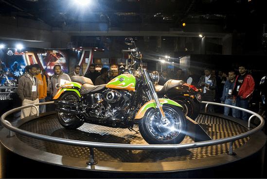 Harley Davidson Fatboy in Tri Colour
