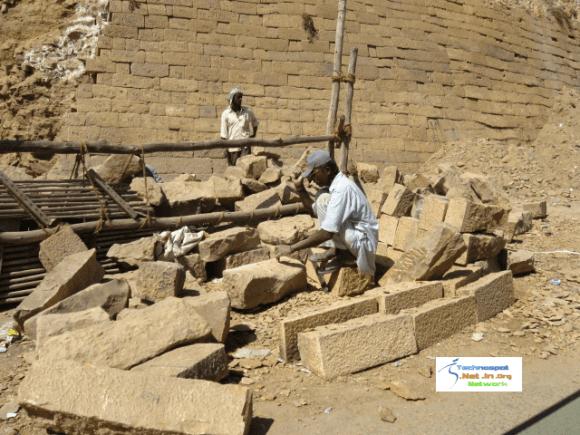 Jaisalmer Fort getting repaired