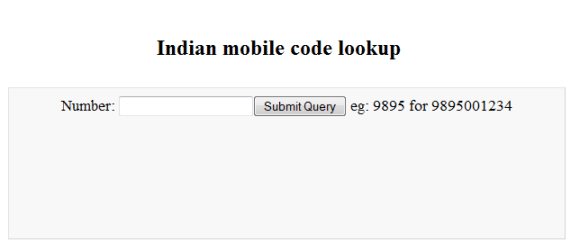 Indian mobile number lookup