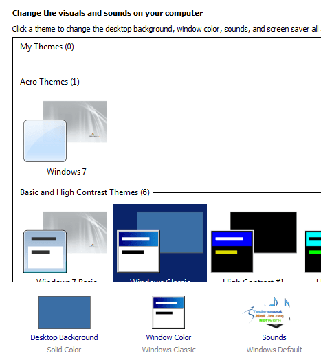 Aero Theme in Windows Server 2008 R2