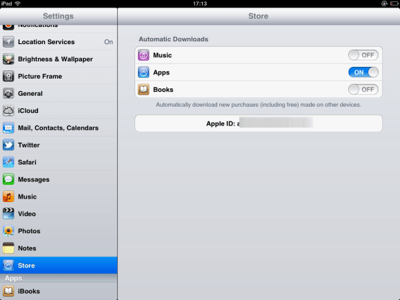 AppStore Auto Download Settings