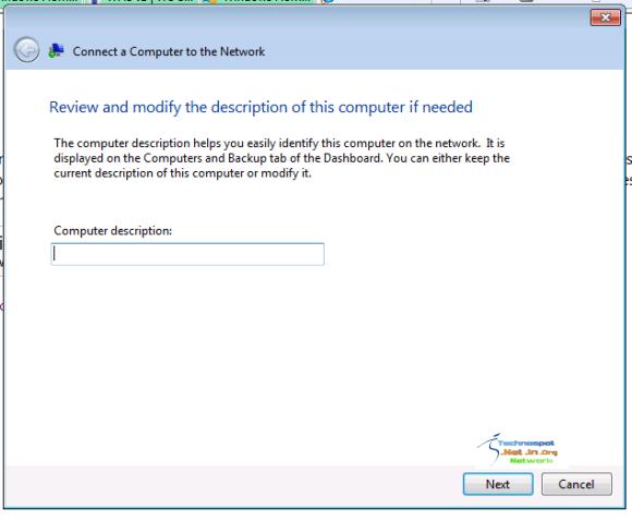 Computer Description of Client Machine