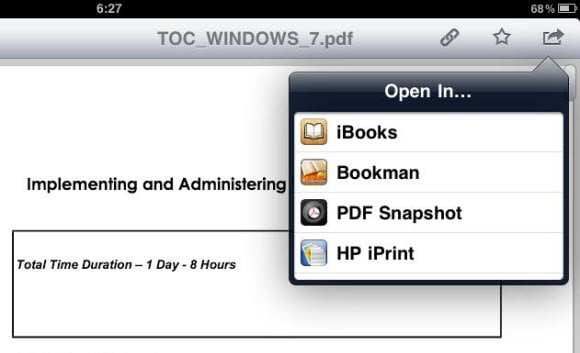 Download PDF to iBooks
