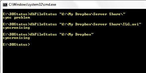 Dropbox Sync Status from Commandline