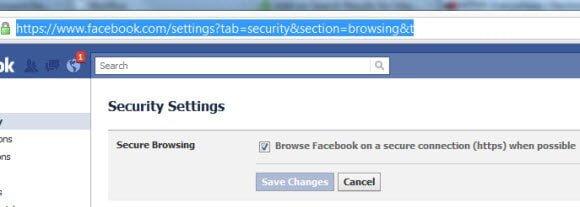 Facebook Enable HTTPS