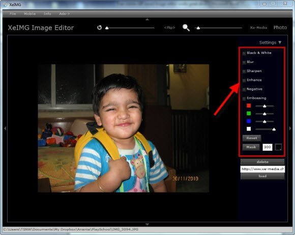 Free Adobe AIR based Image editor works great