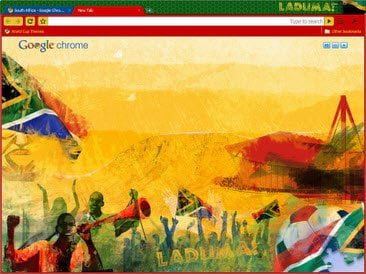 Free Download South Africa theme for Google Chrome
