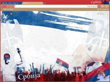 Free Download serbia theme for Google Chrome