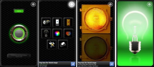 Free Flashlight app for Android, also has Police Lights and Warning Lights