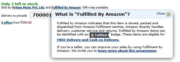 Fulfilled by Amazon