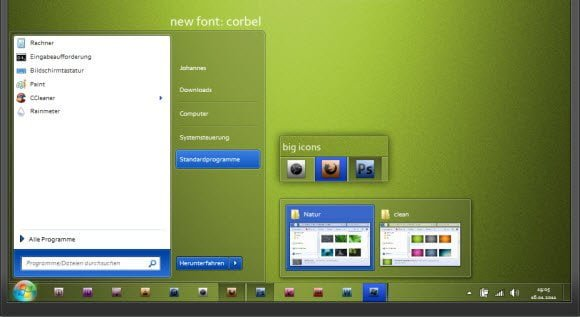 Green MacOSx Theme For Windows 7