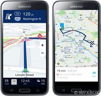 HERE Maps on Samsung Galaxy Devices