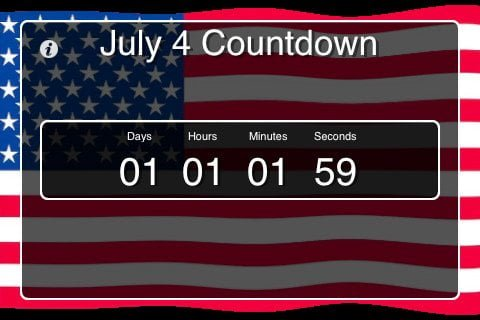 Independence Day Countdown app for iPad, iPhone and iPod Touch 1