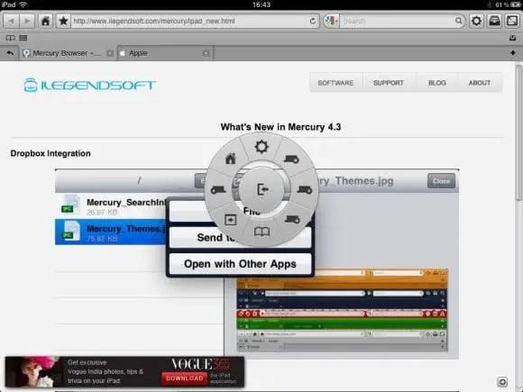 Mercury Broswer for iPad