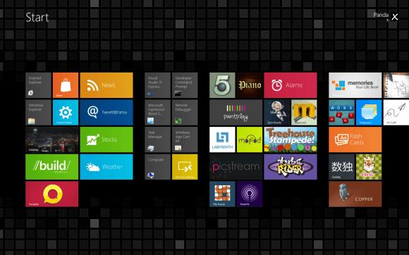 Windows 8 Metro Themes Tile Series Black