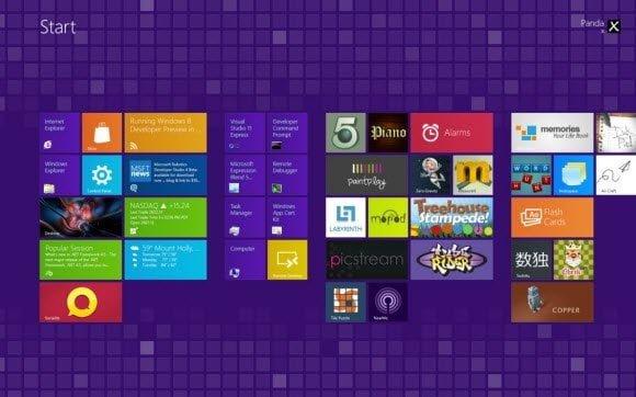 Windows 8 Themes Metro Tile Series Purple