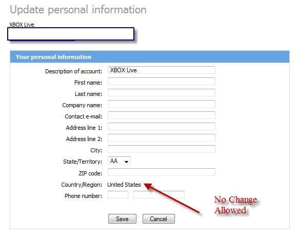 Microsoft Billing Info
