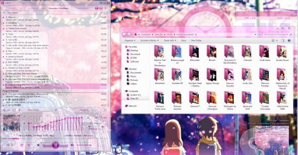 One More time Pink Theme