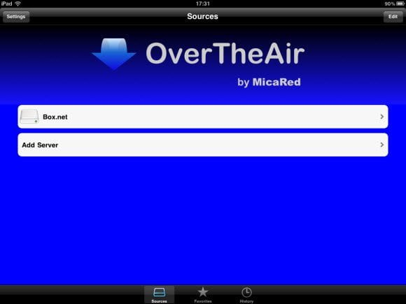OvertheAir Webdav Server List