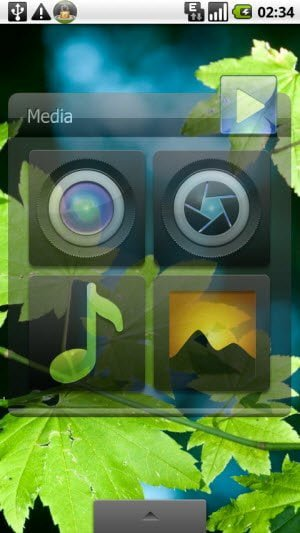 Quickly Access media files and Camera with free Media Widget for Android
