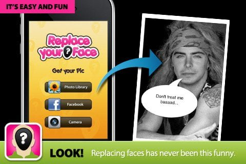 Replace the face from Celebrity pic by that of yours free iPhone iPad and iPod Touch app
