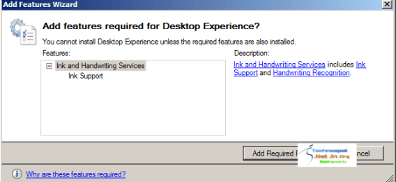 Required Features for Desktop Experience