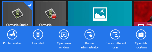 Run as Different user on Windows 8