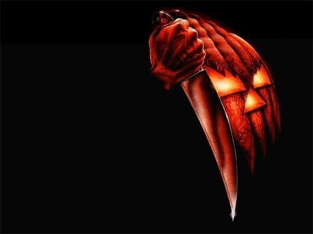 Pumpkin Knife : Scary Halloween Wallpaper
