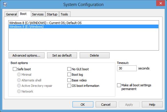 Windows 8 Boot Menu Editor