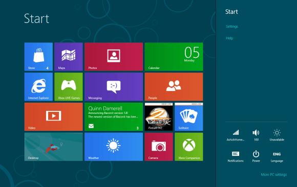 Windows 8 Notifcation Area