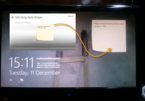 Windows 8 Sticky Notes App