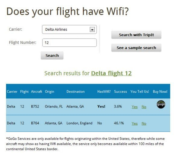 Your flight has wifi