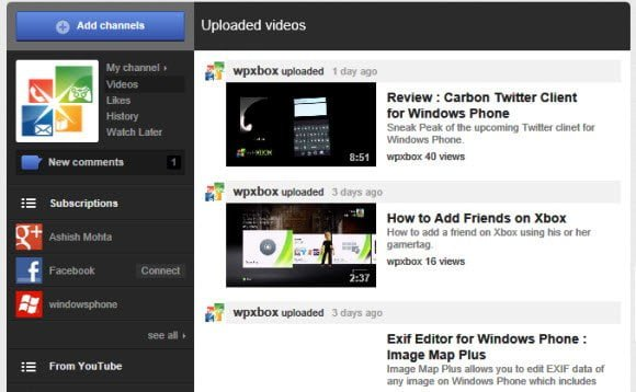 Youtube Channel Facelift