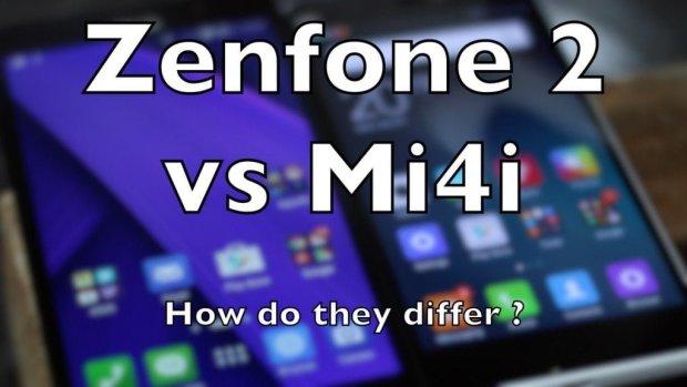 Zenfone 2 vs Mi4i P