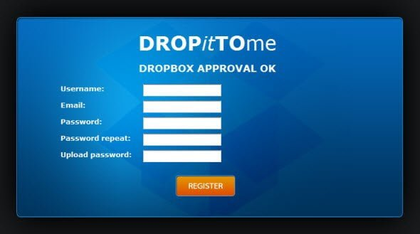 authorize file upload to your dropbox by anyone you want