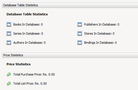 Statstics of book collection