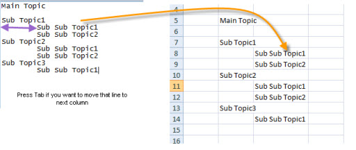 Smart Paste from Notepad to Excel