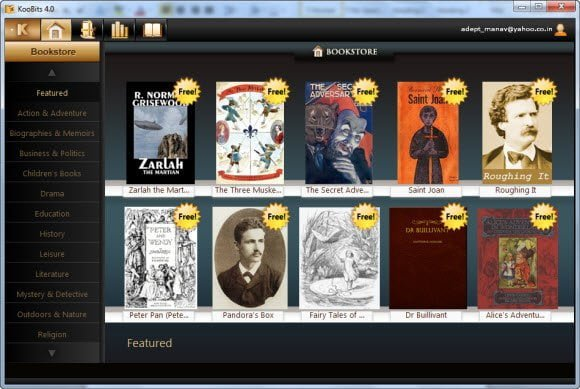 Koobits free ebook reader