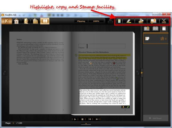 free ebook reader to read PDF EPUB XML HTML KBJ and more in flip style